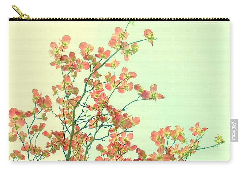 Dogwood Carry-all Pouch featuring the photograph Grandma's Pink Dogwood by Wendy Rickwalt