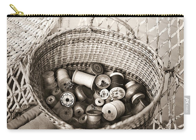 Americana Carry-all Pouch featuring the photograph Grandma's Sewing Basket by Marilyn Hunt