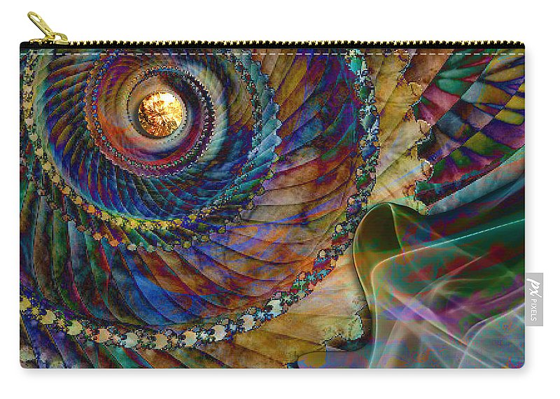 Grandma Carry-all Pouch featuring the digital art Grandma's Treasures by Barbara Berney
