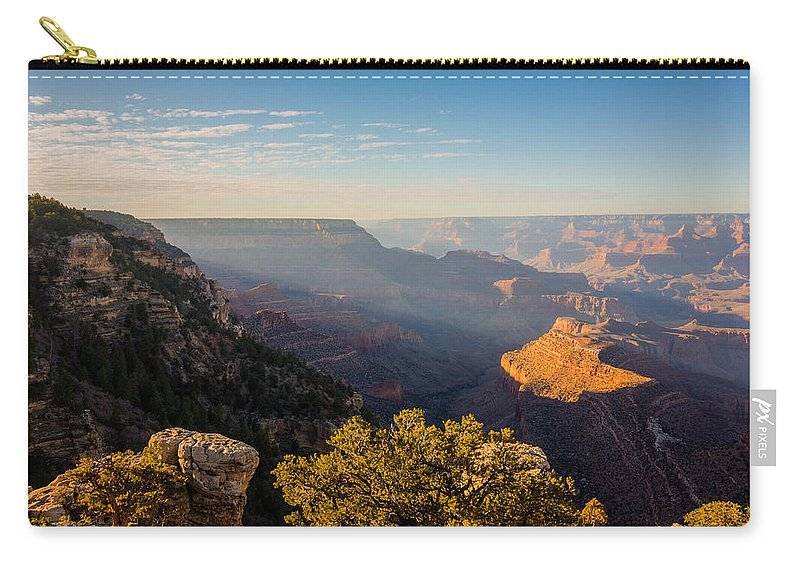 Grandview Sunset Grand Canyon National Park Arizona Az Carry-all Pouch featuring the photograph Grandview Sunset - Grand Canyon National Park - Arizona by Brian Harig