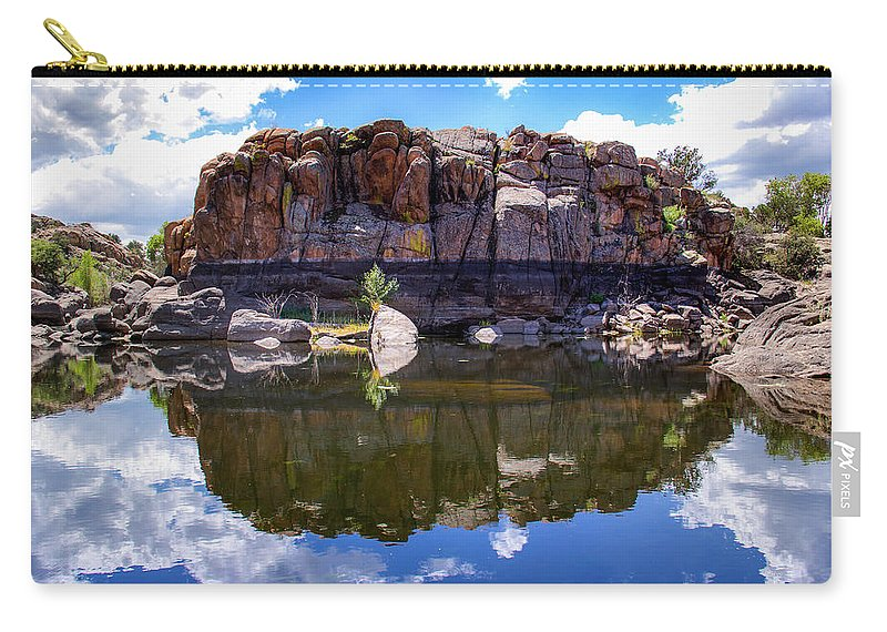 Landscape Carry-all Pouch featuring the photograph Granite Dells Reflection by Amy Sorvillo