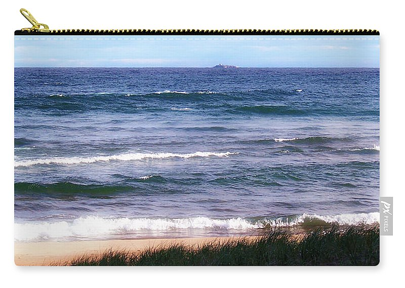 Little Presque Isle Carry-all Pouch featuring the photograph Granite Island by Phil Perkins