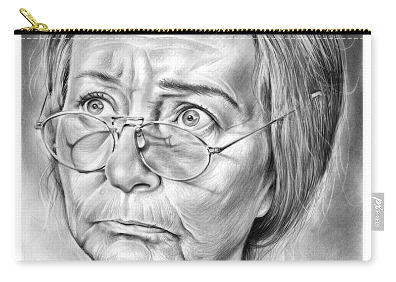 Irene Ryan Carry-all Pouch featuring the drawing Granny by Greg Joens