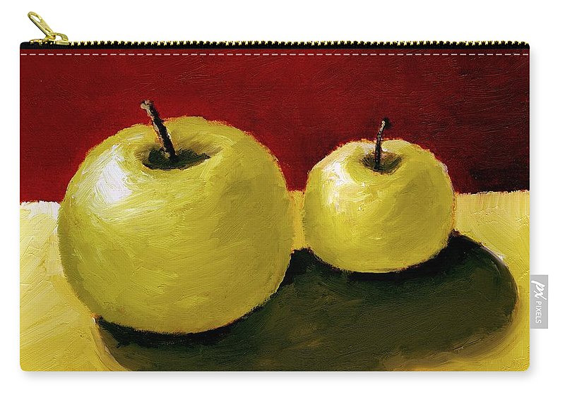 Apple Carry-all Pouch featuring the painting Granny Smith Apples by Michelle Calkins