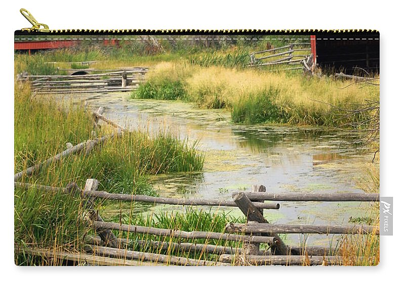 Ranch Carry-all Pouch featuring the photograph Grants Khors Ranch Vertical by Marty Koch