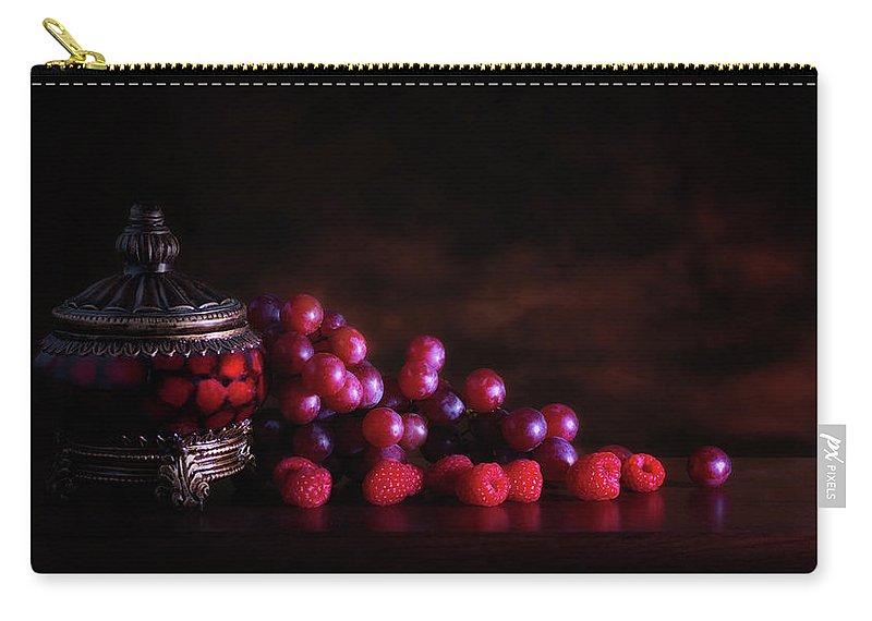 Abundance Carry-all Pouch featuring the photograph Grape Raspberry by Tom Mc Nemar
