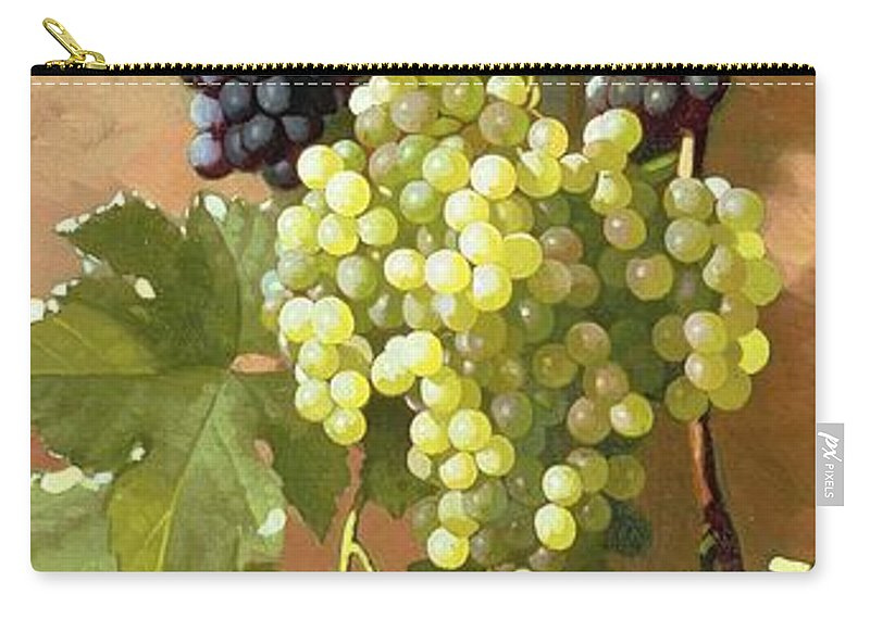 Grapes Carry-all Pouch featuring the painting Grapes by Edward Chalmers Leavitt