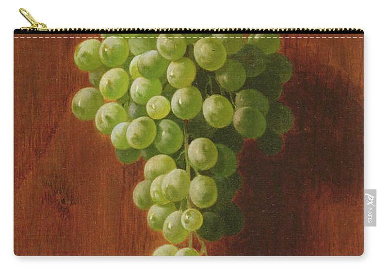 Grape Carry-all Pouch featuring the painting Grapes  Green by Andrew John Henry Way