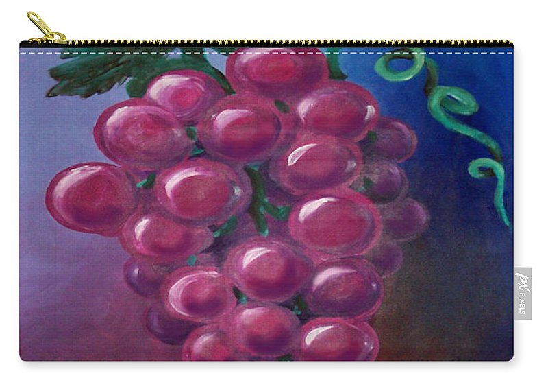 Grape Carry-all Pouch featuring the painting Grapes by Kevin Middleton