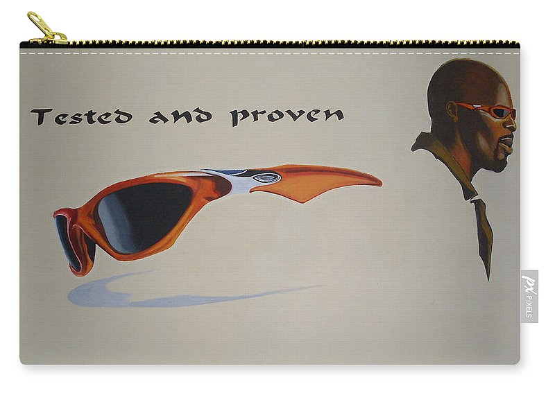 Paintings Carry-all Pouch featuring the painting Graphic Composition by Olaoluwa Smith