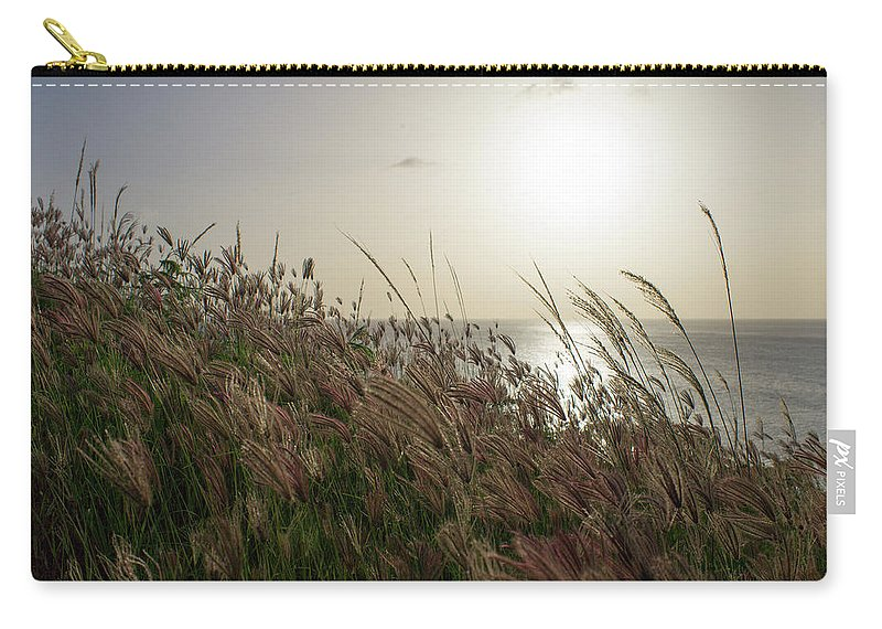 Antigua And Barbuda Carry-all Pouch featuring the photograph Grass Wave by Ferry Zievinger