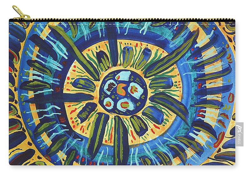 Gratitude Carry-all Pouch featuring the painting Grateful Heart by Ishwar Malleret