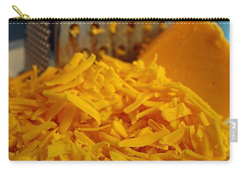 Cheddar Carry-all Pouch featuring the photograph Grating Cheese I by Michiale Schneider