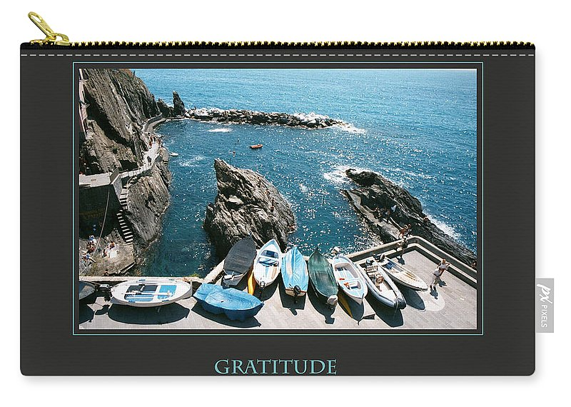 Motivational Carry-all Pouch featuring the photograph Gratitude Helps Me Rise Above All Fears by Donna Corless