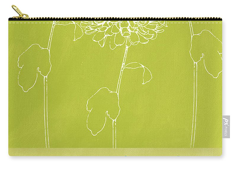 Flower Carry-all Pouch featuring the painting Gratitude by Linda Woods