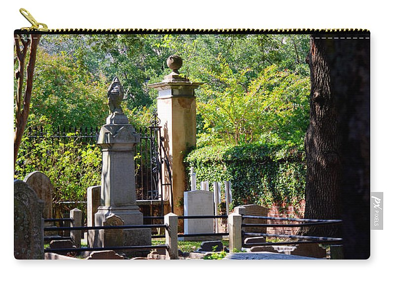 Photography Carry-all Pouch featuring the photograph Graveyard In Charleston by Susanne Van Hulst