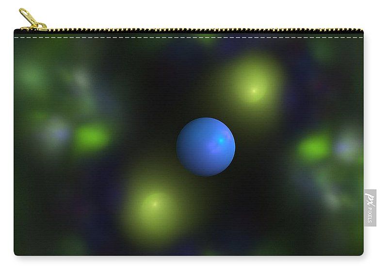 Ball Carry-all Pouch featuring the digital art Gravitation Blue by Steve K
