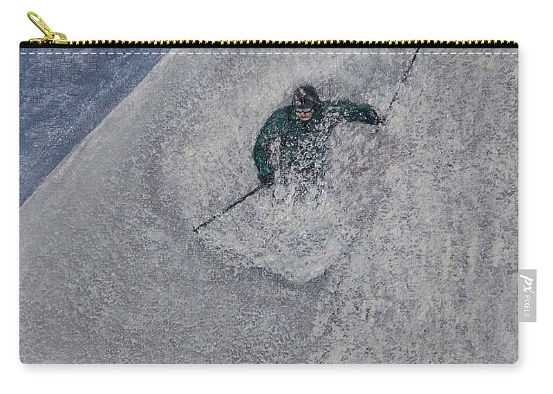 Ski Carry-all Pouch featuring the painting Gravity by Michael Cuozzo
