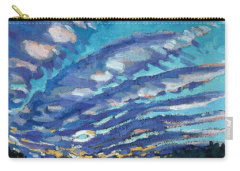 Sunrise Carry-all Pouch featuring the painting Gravity Storm by Phil Chadwick