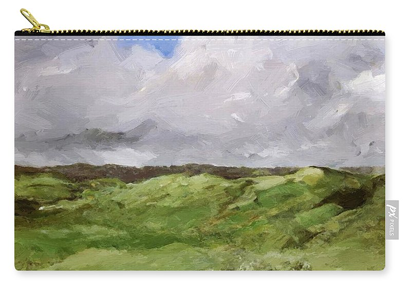 Gray Carry-all Pouch featuring the painting Gray Dunes by Henri Robert