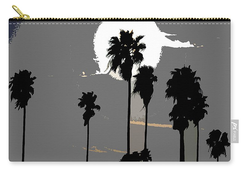 Palms Carry-all Pouch featuring the painting Gray Palms by David Lee Thompson
