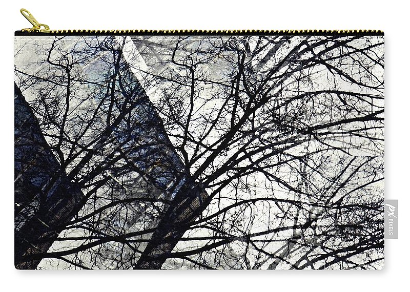 Tree Carry-all Pouch featuring the photograph Gray Repetitions by Sarah Loft