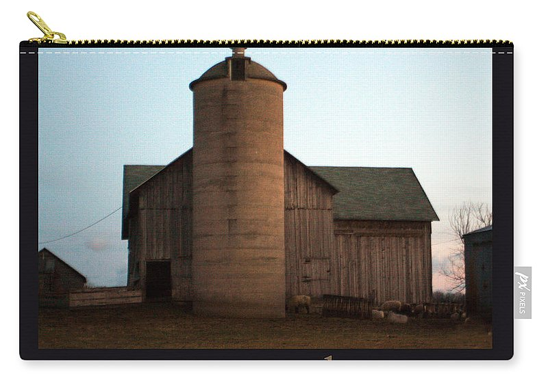 Barn Carry-all Pouch featuring the photograph Grazing At Dawn by Tim Nyberg