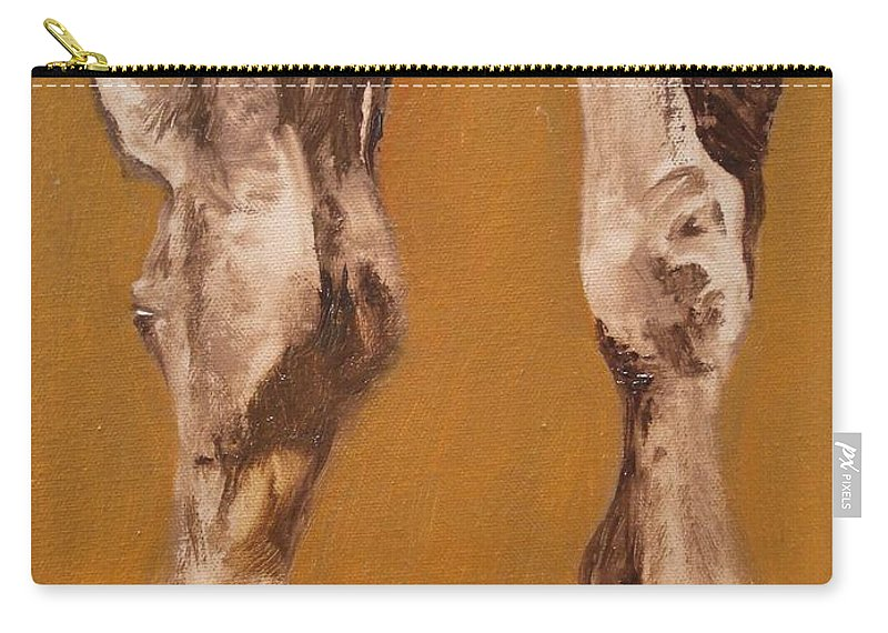 Animals Carry-all Pouch featuring the painting Grazing by Barbara Andolsek