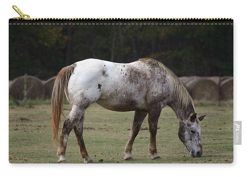 Horse Carry-all Pouch featuring the photograph Grazing Time by Kim Henderson