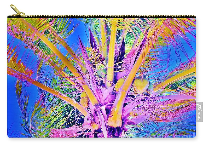 Jellee Pix Carry-all Pouch featuring the digital art Great Abaco Palm by Keri West