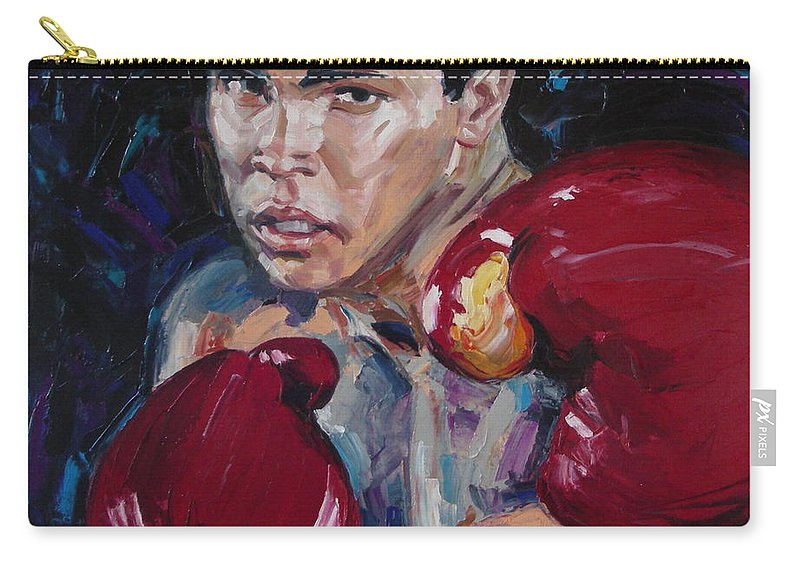 Figurative Carry-all Pouch featuring the painting Great Ali by Sergey Ignatenko