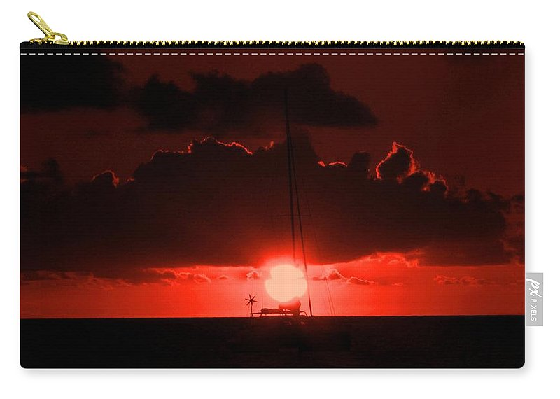 Sunset Carry-all Pouch featuring the photograph Great Ball Of Fire by Ian MacDonald