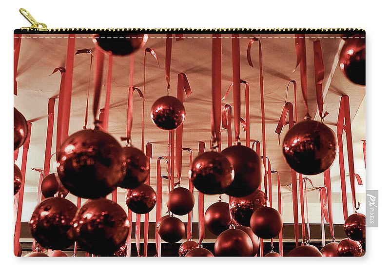 New York City Carry-all Pouch featuring the photograph Great Balls Of Macy's by Lorraine Devon Wilke