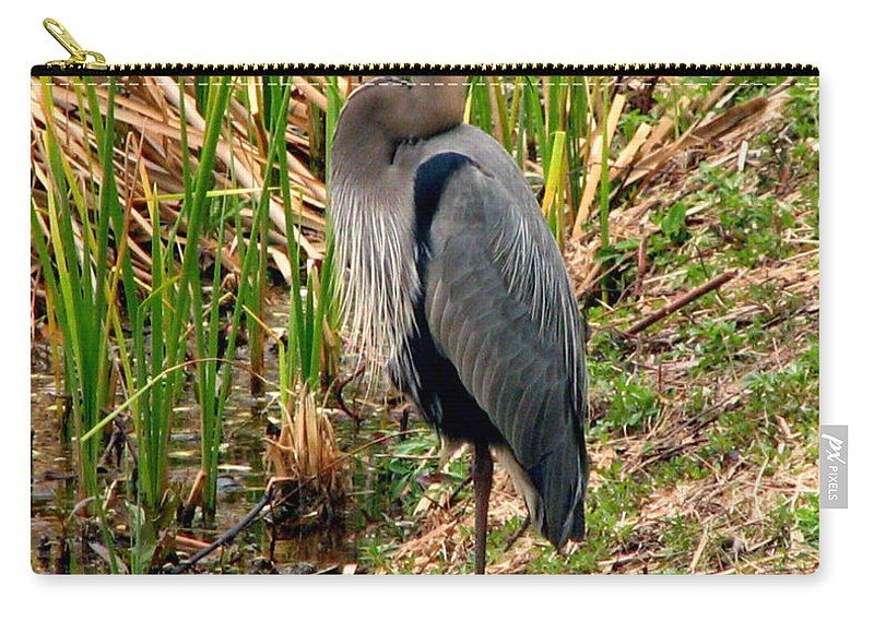 Bird Carry-all Pouch featuring the photograph Great Blue Heron 2 by J M Farris Photography