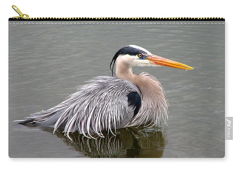 Bird Carry-all Pouch featuring the photograph Great Blue Heron 3 by J M Farris Photography