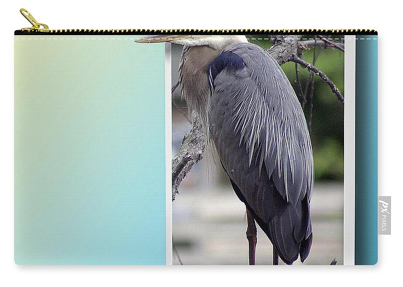 2d Carry-all Pouch featuring the photograph Great Blue Heron by Brian Wallace