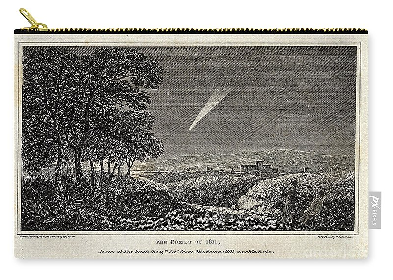 Science Carry-all Pouch featuring the photograph Great Comet Of 1811 by Wellcome Images