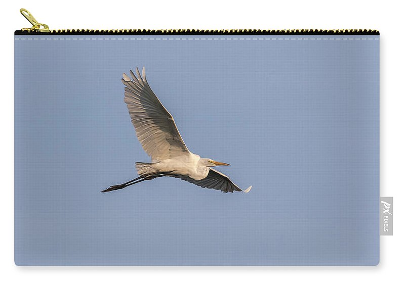 Great Egret Carry-all Pouch featuring the photograph Great Egret 2017-7 by Thomas Young