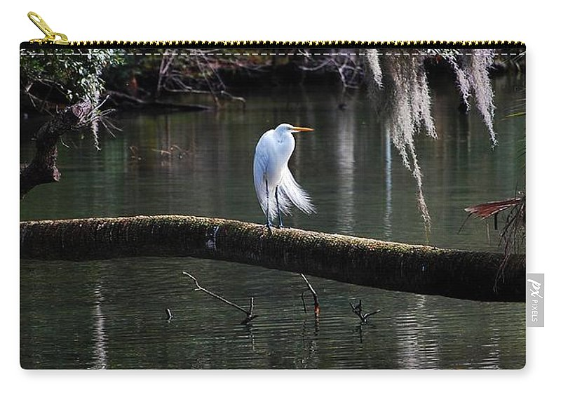 Egret Carry-all Pouch featuring the photograph Great Egret by Robert Meanor
