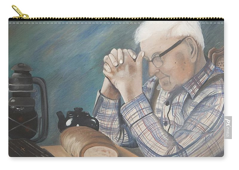 Great Grandpa Carry-all Pouch featuring the painting Great Grandpa by Jacqueline Athmann