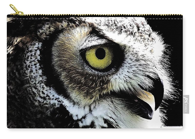 Great-horned Owl Carry-all Pouch featuring the photograph Great Horned Owl by Rose Santuci-Sofranko
