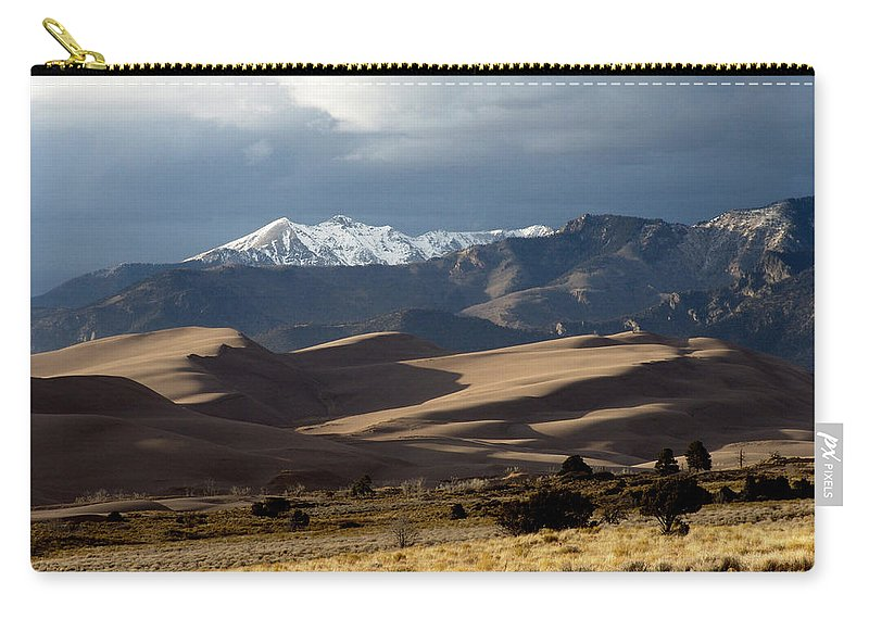 Sand Carry-all Pouch featuring the photograph Great Sand Dunes National Park by Carol Milisen
