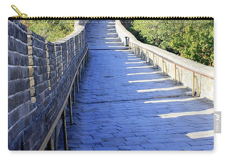 The Great Wall Of China Carry-all Pouch featuring the photograph Great Wall Pathway by Carol Groenen