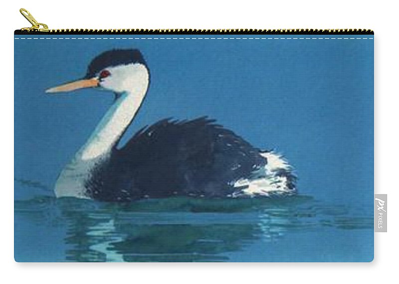 Grebes Carry-all Pouch featuring the painting Grebes by Denny Bond