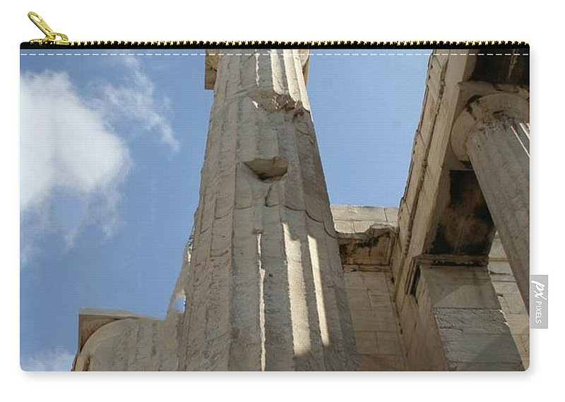 Athens Carry-all Pouch featuring the photograph Grecian Ruins by Mary Kay Bellinger