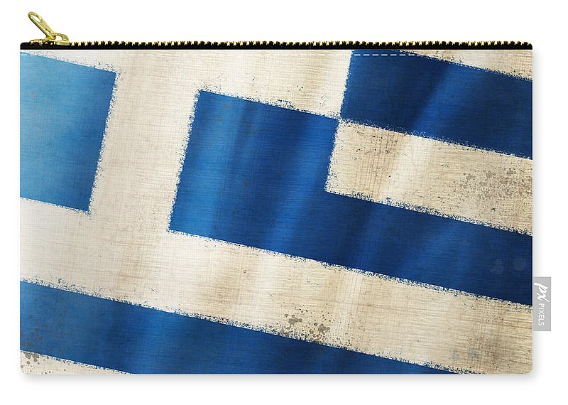 Chalk Carry-all Pouch featuring the photograph Greece Flag by Setsiri Silapasuwanchai