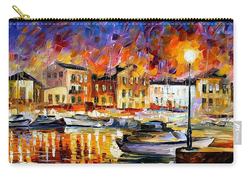 Afremov Carry-all Pouch featuring the painting Greece by Leonid Afremov