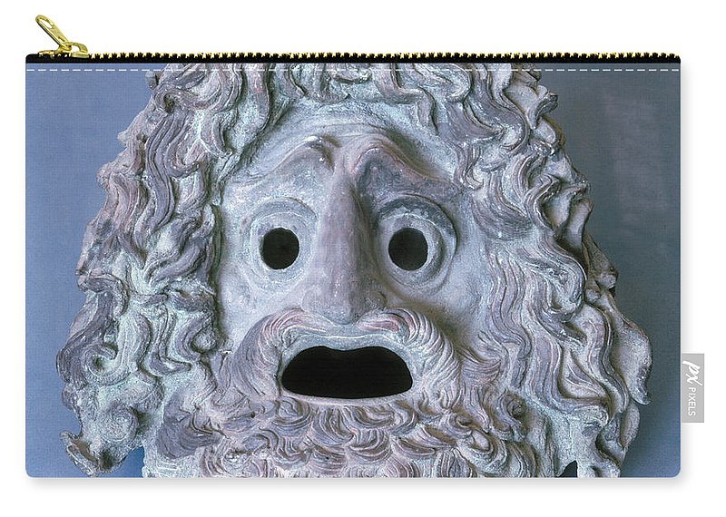 Ancient Carry-all Pouch featuring the photograph Greece: Theatrical Mask by Granger