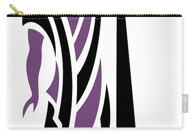 Greek Carry-all Pouch featuring the digital art Greek Man In Purple by Donna Mibus