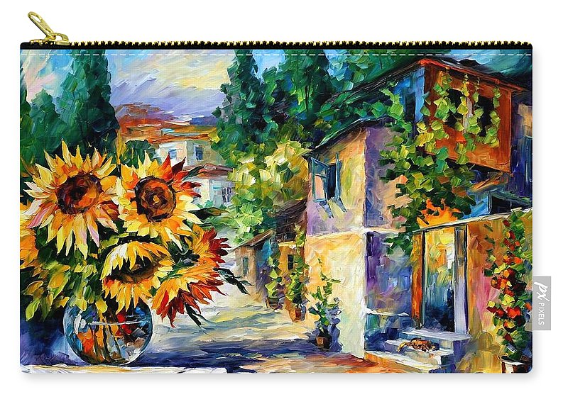 Afremov Carry-all Pouch featuring the painting Greek Noon by Leonid Afremov